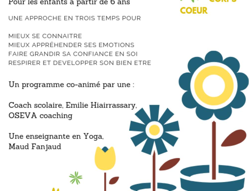 NOUVEAUTE découvrez les cycles YOGA & Coaching pour les enfants à partir de 6 ans